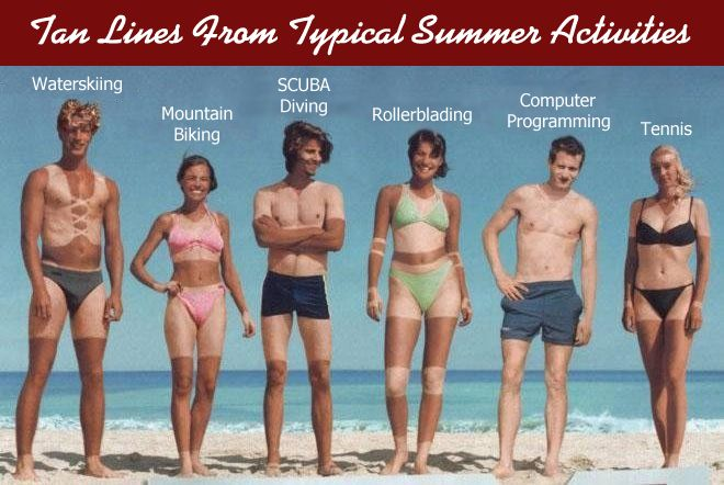 Tanlines of the Working Class